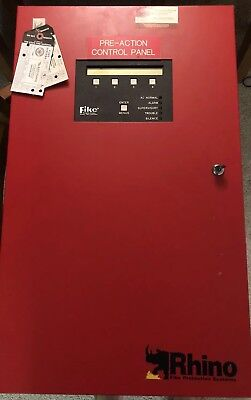 Fike Fire Protection Systems Rhino 10-050 Red Lockable Wkeys Pre Action Panel