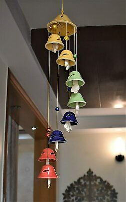 Wind Chimes Of Ceramic For Home Balcony Bedroom , Multicolor - 900 Gm -Free Ship