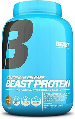 Beast Sports Nutrition Chocolate Protein 25 Grams Per Serving, 4lbs- 52 Servings