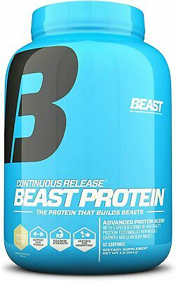 Beast Sports Nutrition Vanilla Protein 25 Grams Per Serving, 4lbs- 52 Servings