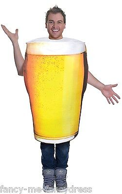 Mens Ladies Pint of Beer Funny Stag Hen Do Festival Fancy Dress Costume Outfit](Pint Of Beer Costume)
