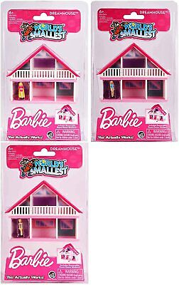 World's Smallest Barbie Dreamhouse - (Bundle of All 3 Barbie Dreamhouses)