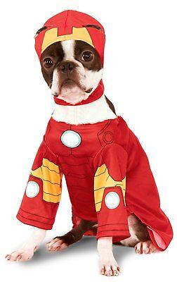 NEW DOG DRESS UP IRONMAN Rubie's Marvel Universe Iron Man Pet Costume SIZE Large (Iron Man Dog Costume)