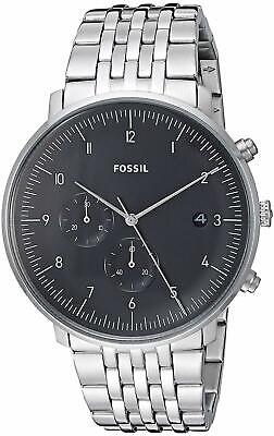 Fossil FS5489 Men's Chase Timer Chronograph 42mm Black Dial Steel Watch