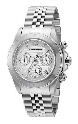 TechnoMarine TM-219025 Manta Ray All Silver NEW 38mm Model with Sapphire Crystal