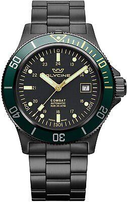 Glycine GL0273 Men's Combat Sub 42 Automatic 42mm Black PVD Watch