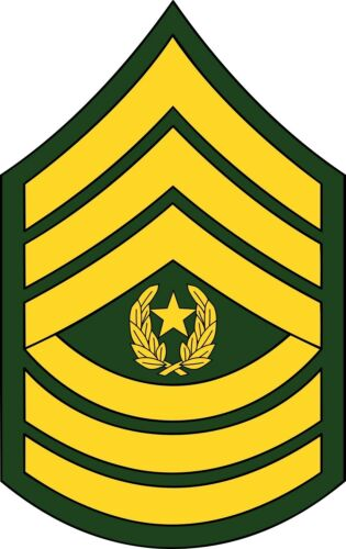 U.S. Army Command Sergeant Major Rank Insignia Decal ...