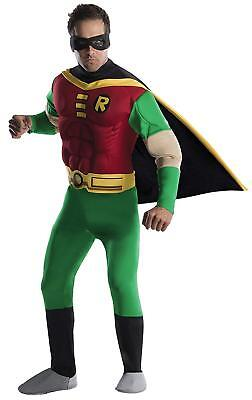 Robin DC Superhero Teen Titans Fancy Dress Up Halloween Deluxe Adult Costume - Teen Titan Robin Costume