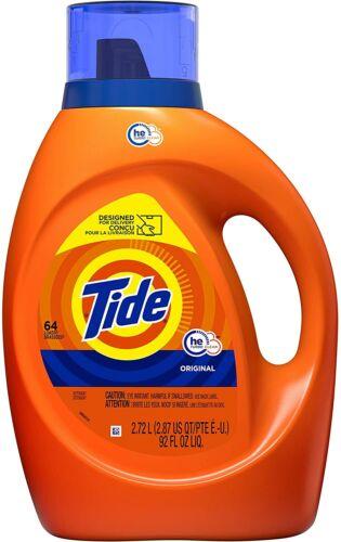 Tide Liquid Laundry Detergent Soap, High Efficiency, Original Scent, 64 Loads