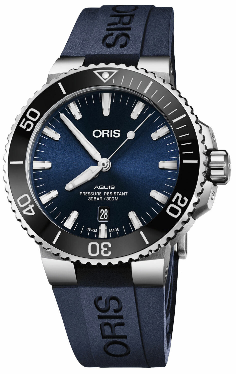 New Oris Aquis Blue Dial Automatic Watch 01 733 7730 4135-07 4 24 65EB - watch picture 1