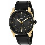 Fossil Men's Machine FS5263 42mm Gold-Tone Stainless Steel Leather  Watch