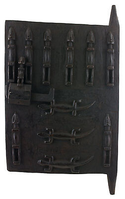 Door Dogon Attic in Mil Mali 65x37 cm - Flap Case - 450w Art African - 1069