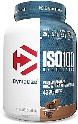 Dymatize ISO 100 Hydrolyzed Whey Protein Powder Isolate 3 lbs All Flavors US