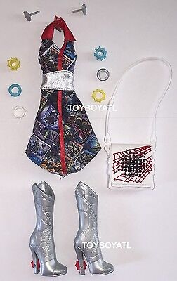 Monster High Wydowna Spider I Heart Fashion Doll Outfit Dress & Shoes NEW - Monster High Boots