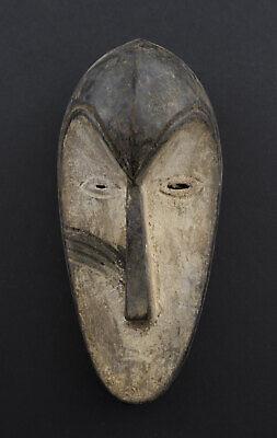 Masquette Mask African Fang Ngil Gabon Wood 15cm Art First 16726