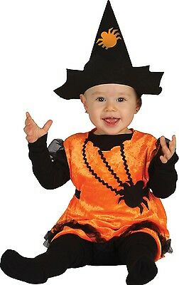 Baby Mädchen Spinne Hexe Süß Halloween Kostüm Kleid Outfit 6-24 - Baby Mädchen Spinne Kostüm
