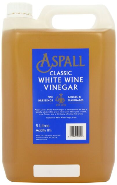 Aspall White Wine Vinegar 5 Litre NEW FREE P&P