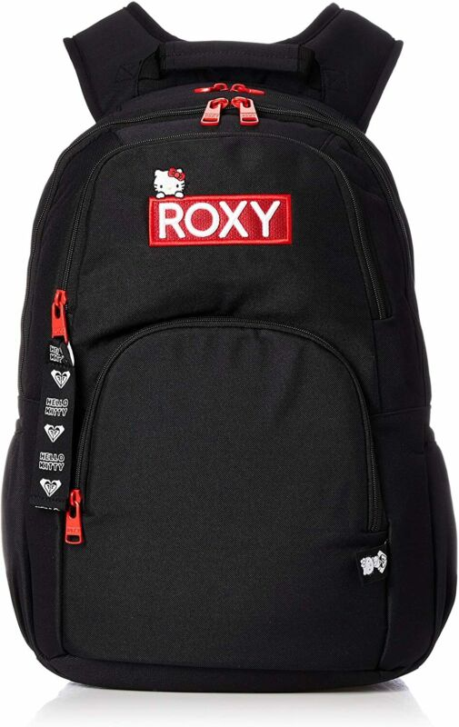 Roxy HELLO KITTY GO OUT RBG194302 Nice Backpack Black From Japan
