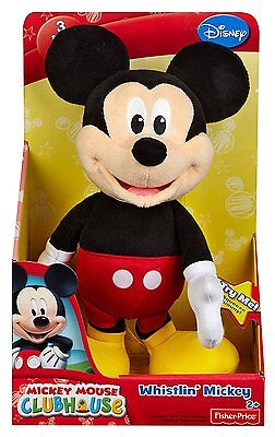 Fisher Price Disney Mickey Mouse Silly Whistler Plush Ages 2+ New Soft Toy Play