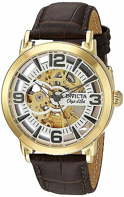 Invicta Objet D Art Automatic Leather Mens Watch 22608