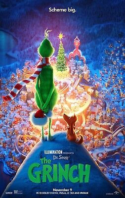 Grinch Poster (The Grinch 2018 - 11x17 Promo Movie)