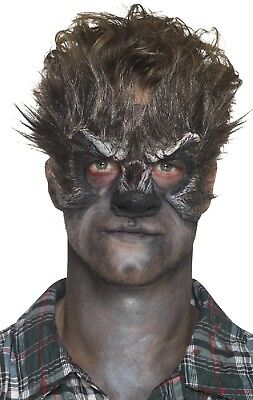 Wolf Halloween Makeup Man (Mens Halloween Prosthetic Wolf Special Effects Make Up Fancy Dress Costume)
