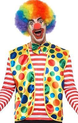 Men Ladies Mr Spotty Tumble Clown Circus Carnival Fancy Dress Costume Outfit Kit