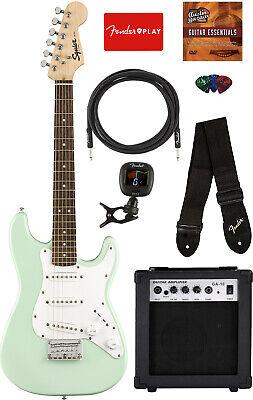 Fender Squier Mini Strat Electric Guitar - Surf Green w/ Amplifier