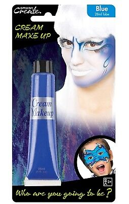 Adults Childrens Blue Face Paint Animal Halloween Carnival Fancy Dress Make Up](Animal Halloween Face Paint)
