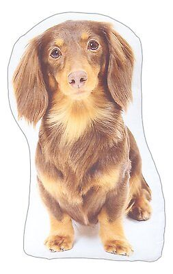 "LONG-HAIRED DACHSHUND Dog Breed Pillow, 14"" x 8"", by K&K Tabletops"