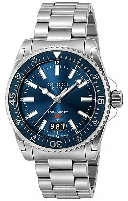 GUCCI Quartz DIVE Blue Dial Men