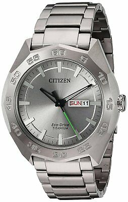 Citizen Eco-Drive Men's AW0060-54A Titanium Silver Tone Bracelet 44mm Watch