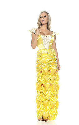 Women's Yellow Southern Belle Princess Costume Size S/M
