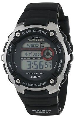 Casio Wv200a 1A Mens Resin Band World Time Multi Band Atomic Watch