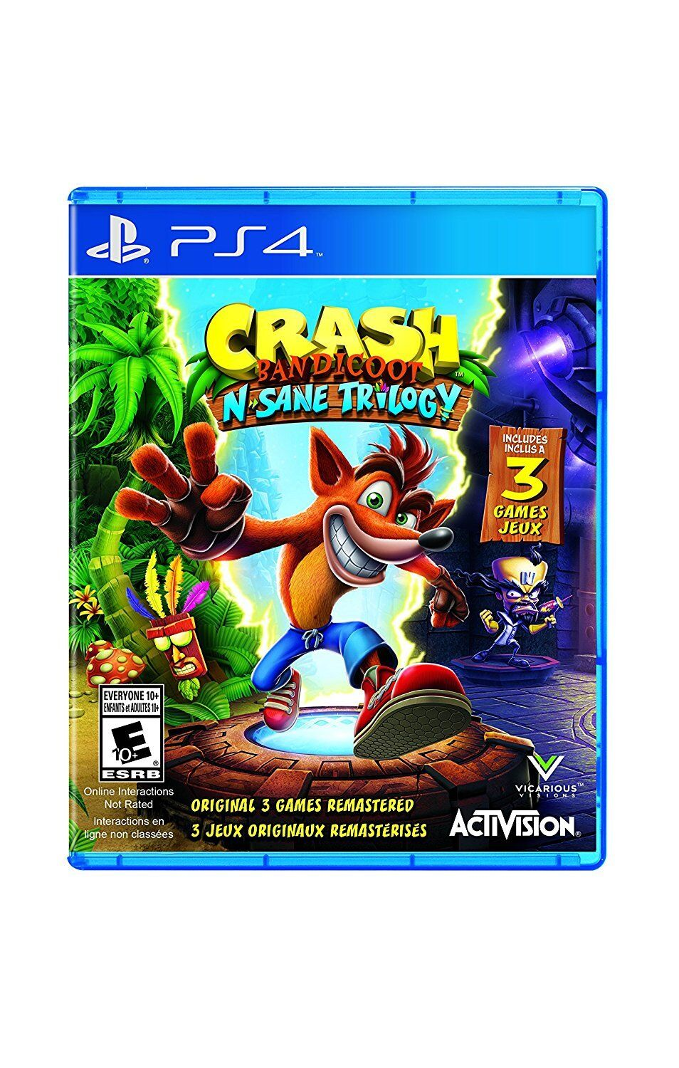 Crash Bandicoot N. Sane Trilogy [playstation 4 Ps4, Activ...