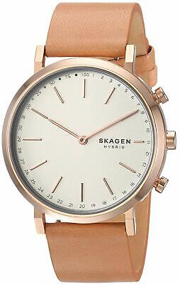Skagen SKT1204 Women's Hybrid Smartwatch 40mm Hald Tan Leather Rose-Tone Watch