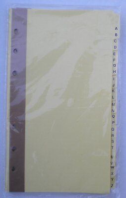 A-z Index Dividers For 3-34 X 6-34 Mead 6-ring Binders 46034 13-tab Set