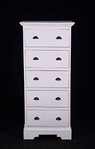 Large 5 drawer painted tallboy chest,DELIVERY AVAILABLE Oakford Serpentine Area Preview