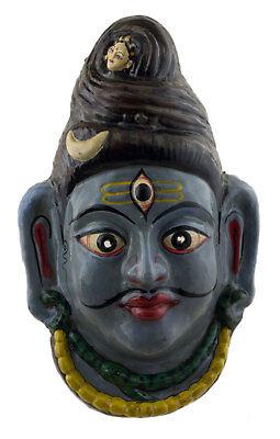 MASK NEPALESE LORD SHIVA INDRA JATRA FESTIVAL NEPAL PAPER MASH 35 CM 4006