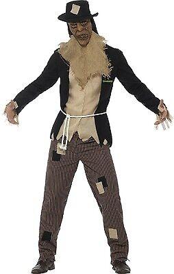Mens Goosebumps Scarecrow Halloween Horror Book Film Fancy Dress Costume Outfit (Goosebumps Halloween Costumes)