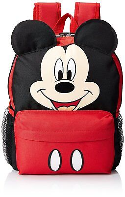 12  Disney Mickey Mouse Face Medium School Backpack With Ears