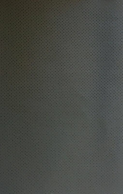 - Vinyl Faux Leather Perforated Grey commercial grade upholstery fabric 55