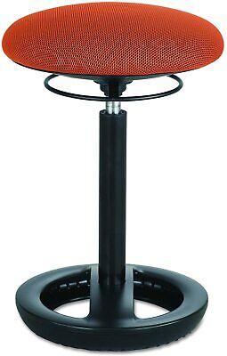 New Safco Twixt Desk Height Ergonomic Stool 22 12 High Orange Fabric 3000or