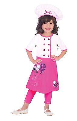 arbie Hübsche Rosa Chef Uniform Kostüm 3-10yr (Rosa Barbie Kostüm)