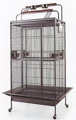 Large Bird Parrot PlayTop Cage Cockatiel Macaw Conure Aviary Pet Supply Finch526