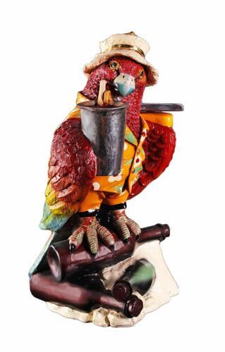 Parrot Butler Sculpture Waiter 23 Inches Tropical Home Decor Server Restaurant