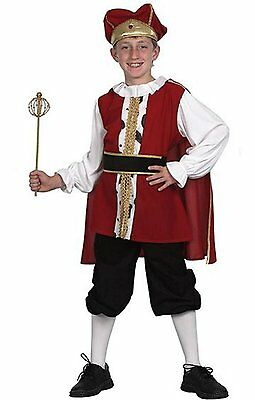 König Kostüm Kinder - elegantes Kinderkostüm König für Jungen STKRL ()