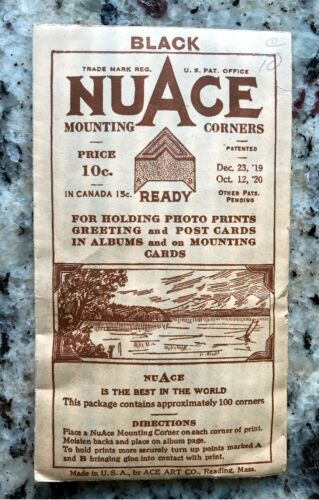 VINTAGE NUACE MOUNTING CORNERS  -  VERY OLD  -  SEALED