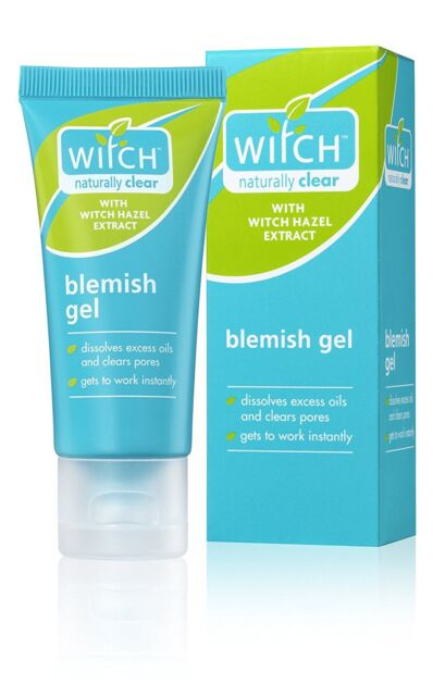WITCH NATURALLY CLEAR BLEMISH GEL HAZEL OILY SKIN ENLARGED PORES OIL-FREE 35ml