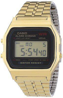 Casio A159WGEA-1 Mens Gold Tone Stainless Steel Digital Watch Vintage Retro NEW Casio Mens Steel Watch